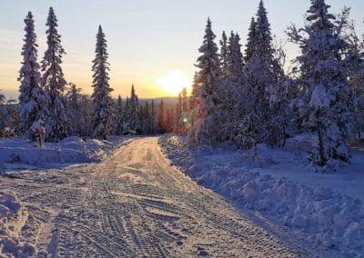 Sångbäcksvallen i snöskrud