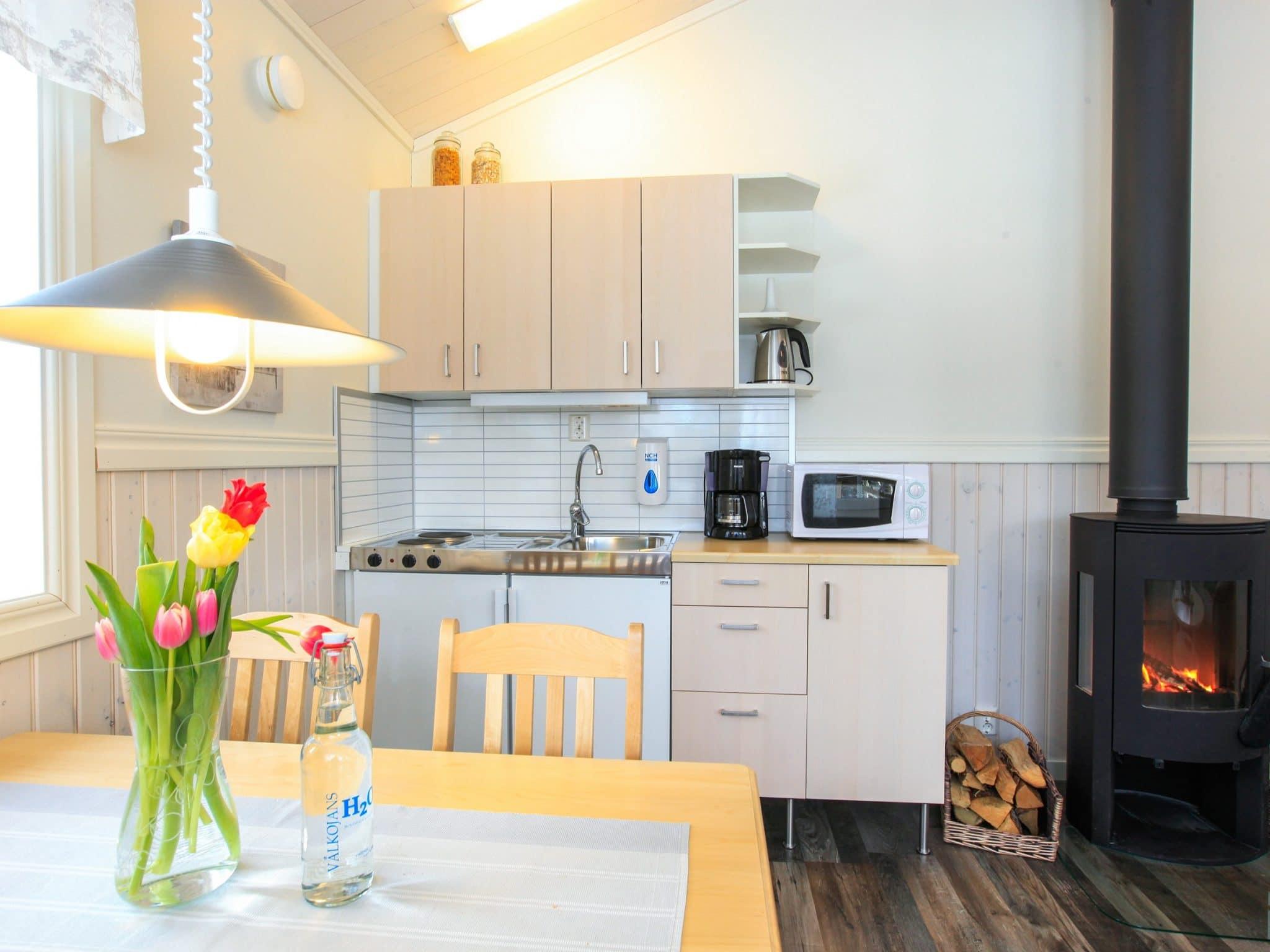 Kitchen, kitchen table stove in Vålkojan, Vemdalen