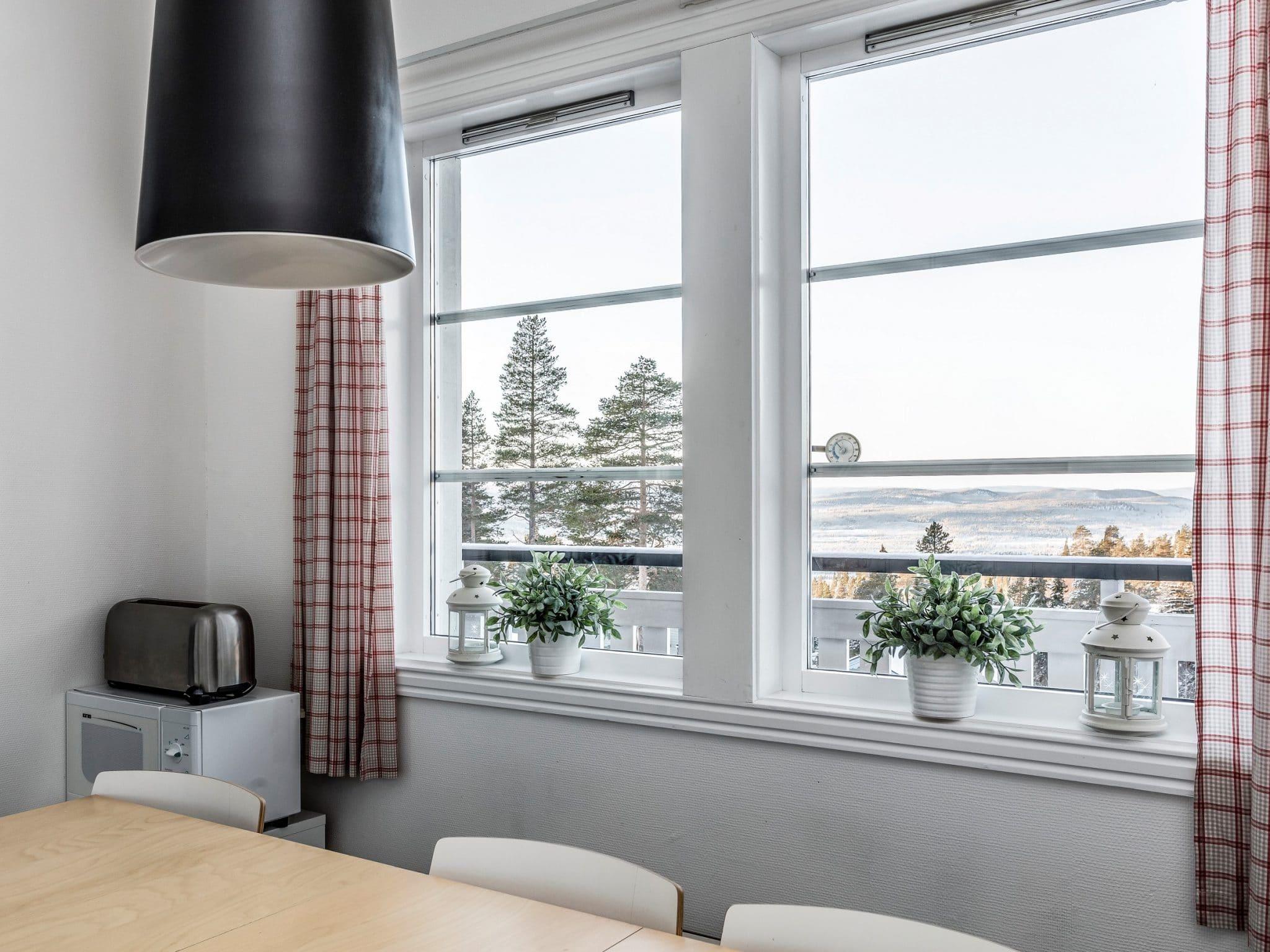 View from dining area in Blåbärskullen 3 in Vemdalen